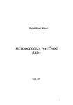 Metodologija naučnog rada